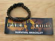 Paracord Survival Bracelet Woodland Camo