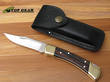 Buck 110 Folding Hunter Knife with Leather Sheath - 110BRS-B