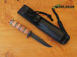 Buck 117 Small Brahma Fixed Blade Hunting Knife - Leather Handle 117BRS-B