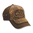 Buck 89087 Adjustable Logo Cap - Camo and Suede Brown