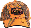Buck Logo Baseball Hunting Cap, Mossy Oak Blaze Orange Camo - 89054
