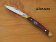 Buck Solitaire Pocket Knife with Single Blade, Rosewood Handle - 302RWS-B