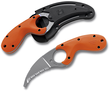CRKT Bear Claw Rescue Knife with Blunt Tip, Orange - 2510ER
