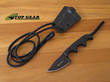 CRKT Folts Minimalist Bowie Neck Knife - Black 2387K