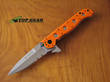 CRKT M16-13ZE Spear-Point Rescue Knife, Orange Handle - M16-13ZE