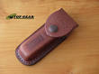 Case Cutlery Leather Knife Pouch for Hobo Models with Spoon - Dark Brown 01049