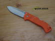 Cold Steel Ultimate Hunter Folding Hunting Knife, CPM S35VN Stainless Steel, Orange - 30URY