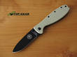 Esee Zancudo Framelock Knife, Desert Tan with Black EDP Coating BRKR1DTB