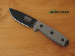 Esee 3 Mil Knife with Modified Pommel, Black, Knife Only - ESEE-3MIL-PDT