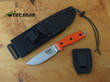 Esee 4 Knife with Molle Sheath System, Orange with Uncoated Blade - ESEE-4P-MB-SS-OR
