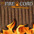 Live Fire Gear Firecord 550 The Thin Red Line Paracord with Firestarter - FC-COYOTEBROWN-25