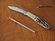 George Wostenholm IXL Barlow Pocket Knife and Steel, Bone Handle - 8100ISI1