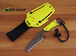 HPA 1 Water and Air Rescue Knife with Yellow G10 Handle - 10645