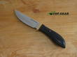 Jesse Hemphill Point Rock Hunting Knife, A2 Tool Steel, Black Canvas Micarta Handle - 001B