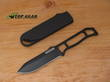 Ka-Bar BK23 Skeleton Fixed Blade Neck Knife, Black Powder Coating- BK23BP