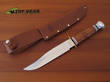 Ka-Bar Bowie Knife with Leather Handle 1236