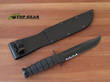 Ka-Bar Utility Knife Serrated Edge with Leather Sheath - 1212