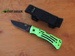 Ka-Bar Zombie Mule Field Folder, Zombie Green - 3058