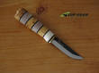 Kellam Tonttu Fixed Blade Knife, Curly Birch and Antler Handle - 3060