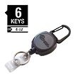 Key-Bak Sidekick Professional Duty Self Retracting ID Badge and Key Reel - 0K81-0A21
