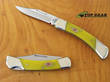 Kissing Crane Lockback Knife - Yellow KC3116
