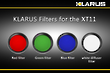 Klarus Filter for XT11 Torch - Red Green or Blue