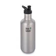 Klean Kanteen Classic Stainless Steel Bottle with Sports Cap - 1.2 L Brushed Stainless
