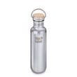 Klean Kanteen Reflect Stainless Steel Bottle, 27 oz. (800 ml) with Bamboo Cap, Brushed Stainless - K27CSSLRF-MS