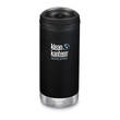 Klean Kanteen TKWide Vacuum-Insulated Stainless Steel Bottle with Cafe Cap, 12 oz. - 355 ml, Shale Black - K12TKWPCC-SB