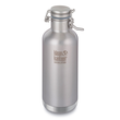 Klean Kanteen Vacuum Insulated Stainless Steel Growler with Swing Lok Cap - Brushed Stainless-32 Oz. – 946 ml