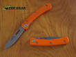 Knives of Alaska Featherlite Folding Hunting Knife, Semi-Serrated, Orange - 393OR