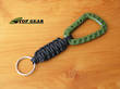 Knotty Boys Paracord Key Fob with Key Ring and Attachment Clip - Olive Green/Black KYKC0201