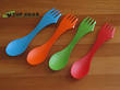 Light My Fire Original Spork, 2-Pack or 4-Pack, Assorted Colours - 005994