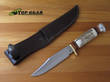 Linder Classic Bowie Knife with Staghorn Handle Carbon Steel - 192613