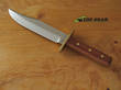 Linder Rehwappen Platterl Bowie 2 Knife, Plum Wood Handle - 186618