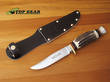 Linder Traveller Knife with Staghorn Handle - 190110
