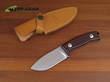 Lion Steel Hunter Fixed Blade Knife, D2 Tool Steel, Wood Handle - M2CB