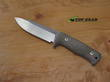 Lion Steel T5 Fixed Blade Knife, Niolox Stainless Steel, Green Canvas Micarta Handle - T5 CVG