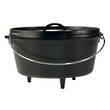 Lodge Cast Iron Cookware Camp Dutch Oven, Deep – L12DCO3
