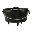 Lodge Cast Iron Cookware Pre-Seasoned Cast Iron Camp Dutch Oven, 3.8 L - L10CO3