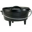 Lodge Pre-Seasoned Cast Iron Camp Dutch Oven with Loop Handle - L8CO3