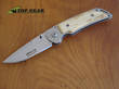 Marttiini MFK-3W Folding Knife with Curly Birch Handle - 10112