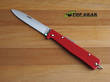 Mercator Folding Pocket Knife Red, Carbon Steel - K55K