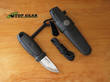 Mora Eldris Neck Knife with Fire Starter Kit, Black - 12629