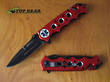 MTech USA EMR Emergency Rescue Knife with Red Handle - MT-551EMR