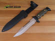 Muela Fixed Blade Survival Knife with Sawback Blade, Olive Green - 5161