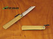 Nagao Higonokami Carbon Steel Mini Pocket Knife,Brass Handle - HIGO01