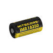Nitecore 18350 - 700 mAh Rechargeable 3.7V Protected Li-On Button Top Battery