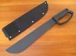Ontario 12 Inch Camper Machete with D Ring Handle, Black - 8510