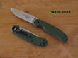 Ontario Knife Rat M1 Folding Knife, Fine Edge, Field Green - 8848FG